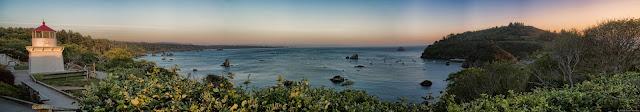 Trinidad at Sunset Panorama