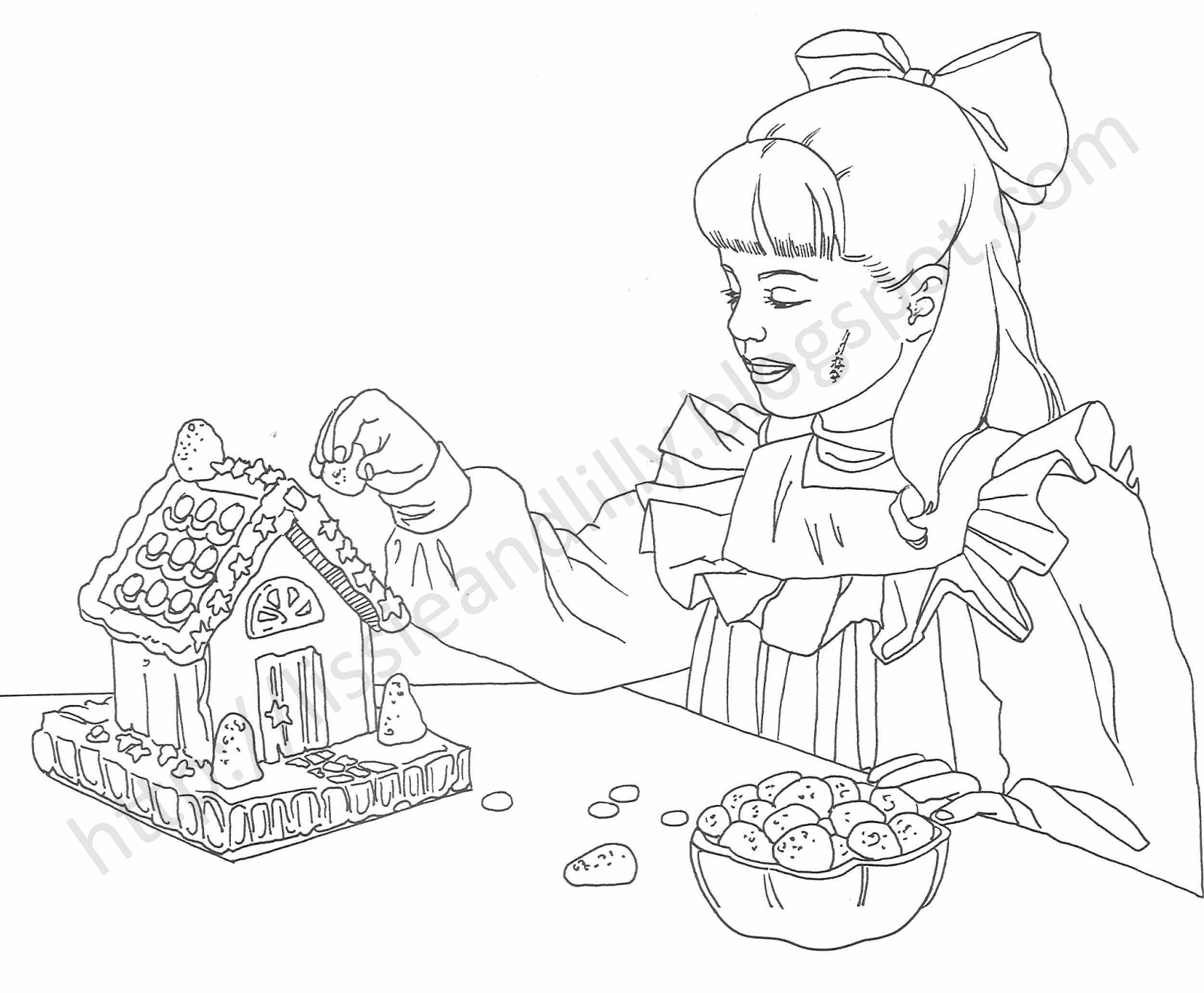 American girl pages to color - Samantha S Coloring Pages