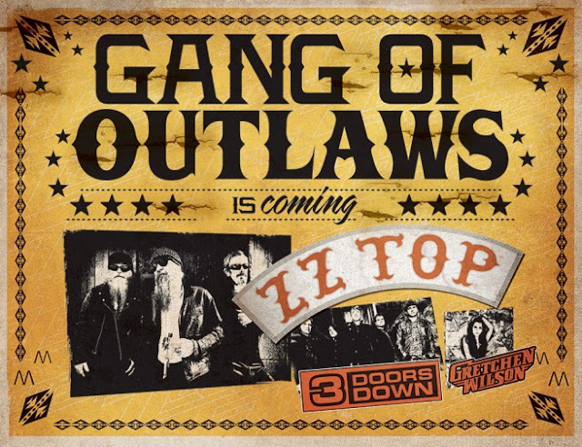 ZZ Top Gang Outlaws 3 Doors Down Gretchen Wilson
