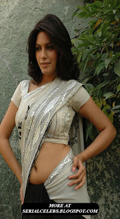 malishka aunty navel show