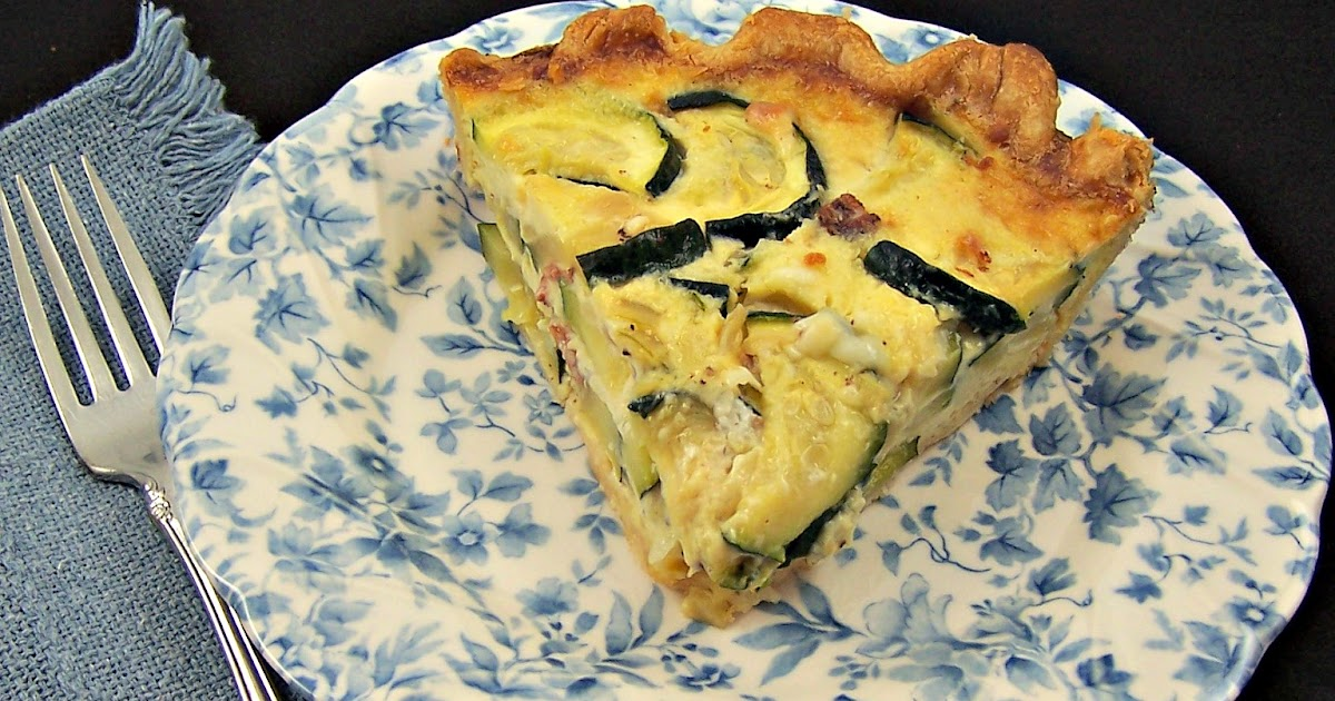 Olla-Podrida: Zucchini, Bacon, and Gruyère Quiche