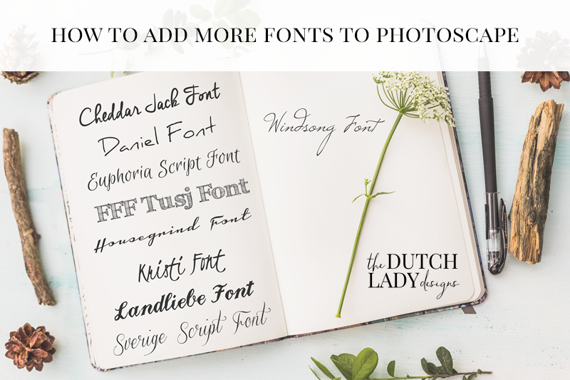 how to add more fonts to photoscape and photoshop