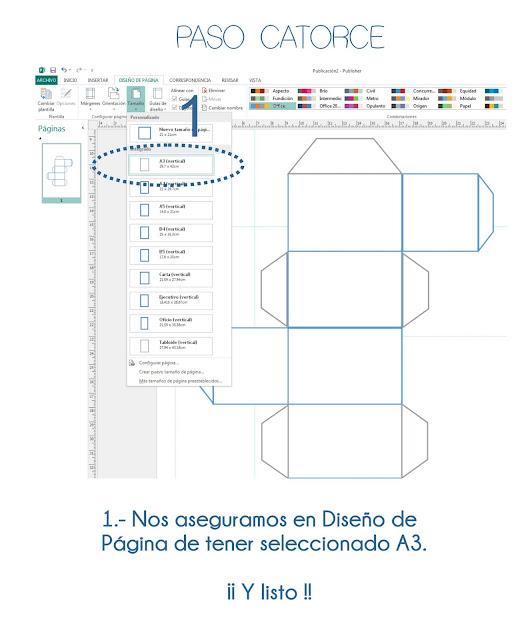 caja personalizada en publisher
