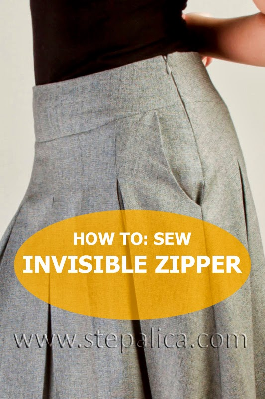 Zlata skirt sewalong: #10 Sew an invisible zipper