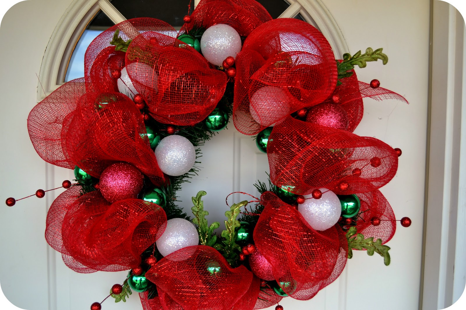 The sparacino chronicles christmas deco mesh wreath tutorial Christmas wreaths to make