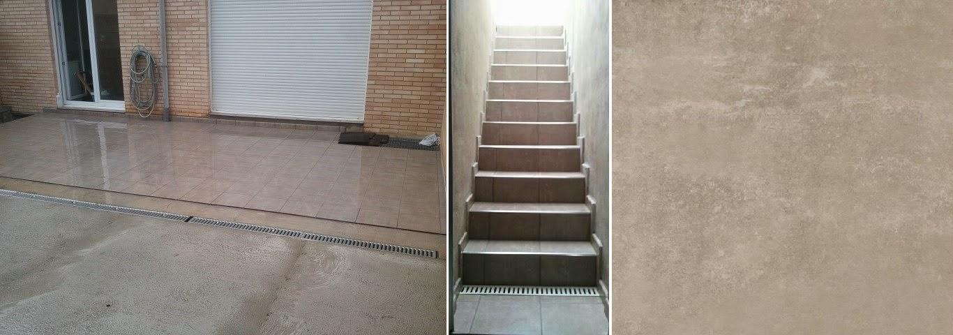 reforma de terraza en murchante con baldosa gres espesorado