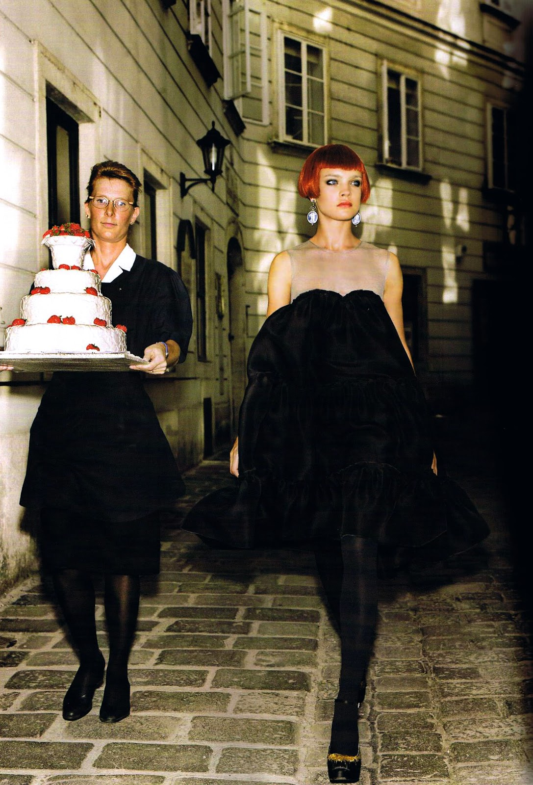 Natalia Vodianova in Lanvin by Alber Elbaz dress in The Last Waltz / Vogue US September 2006 (photography: Mario Testino, styling: Grace Coddington) via www.fashionedylove.co.uk british fashion blog
