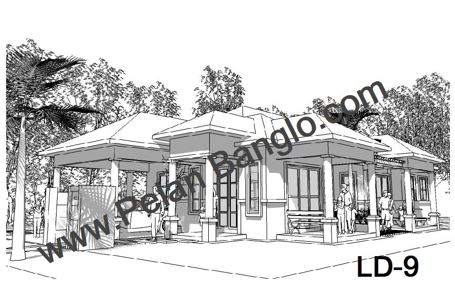 Pelan Rumah Banglo Setingkat 3 Bilik Idea Rumah Idaman   Share The ...