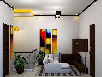 Interior Ruang Keluarga Sederhana