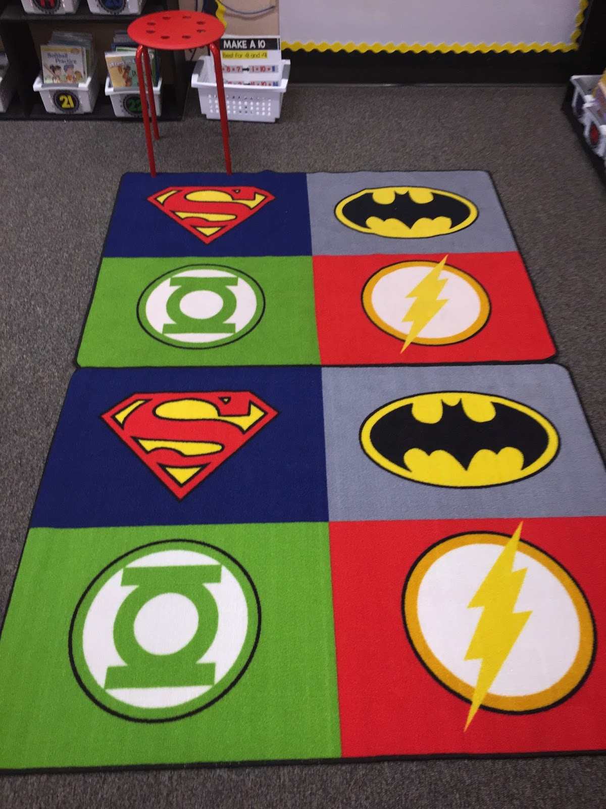I Was Walking Through Target A Couple Of Nights Ago And The Super Hero Rug  Was On Clearance So I Purchased A Second One To Make My Meeting Space  Bigger!