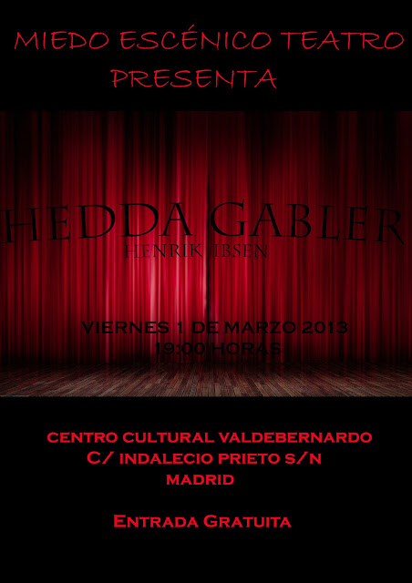 C.C. Valdebernardo teatro 1 de marzo 2013 Hedda Gabler