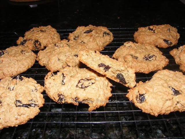 Cookies de Aveia e Uvas Passas
