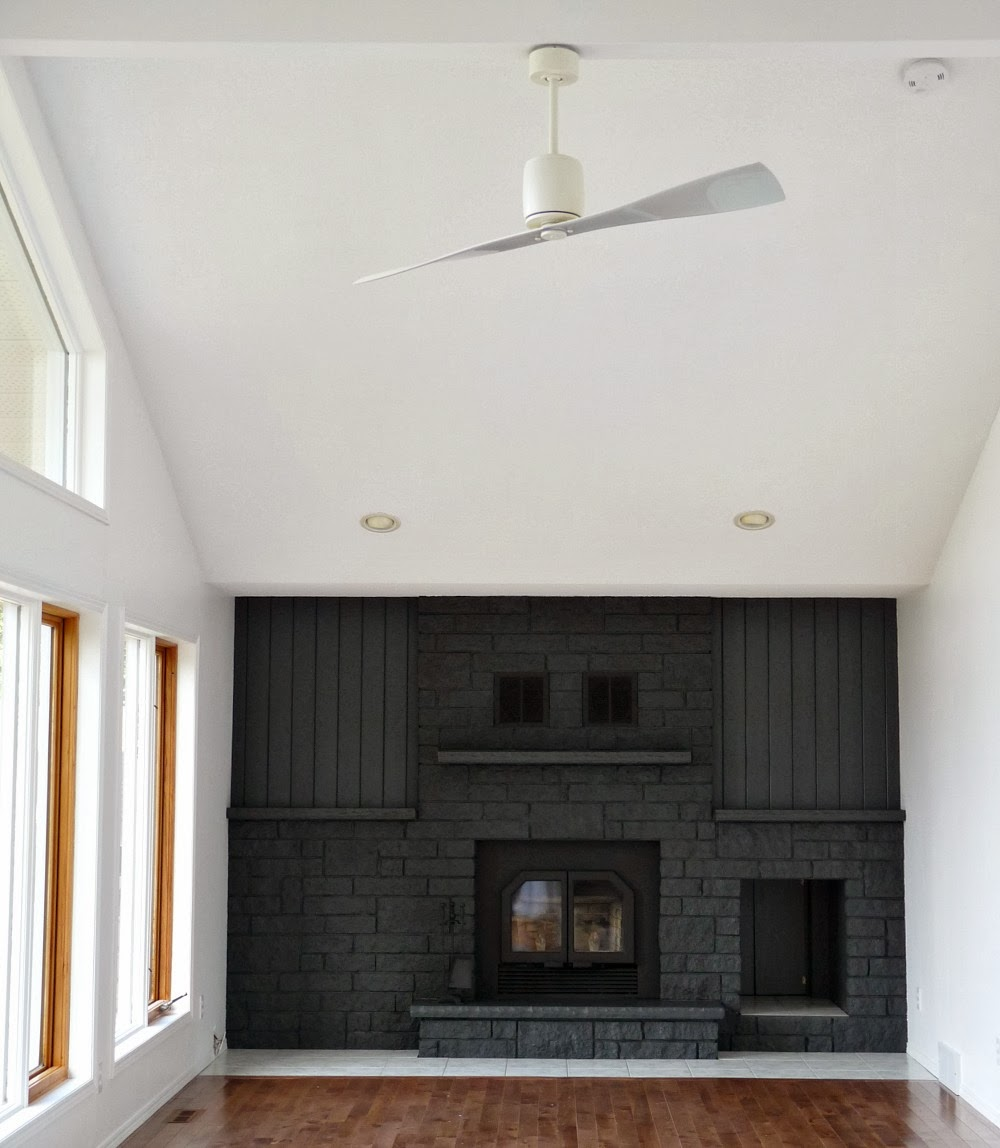 Modern white ceiling fan - no light