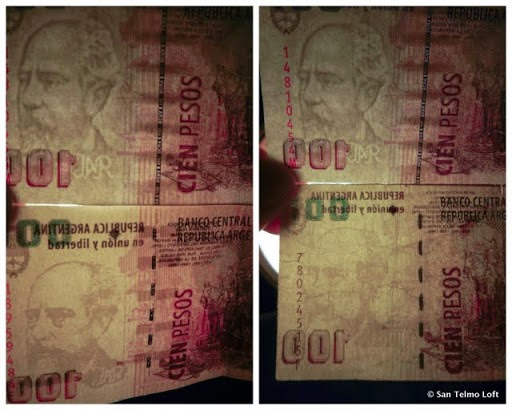 Argentinien bluedolar dollar -  das wechseln auf der Strasse zum inoffiziellen Wechselkurs