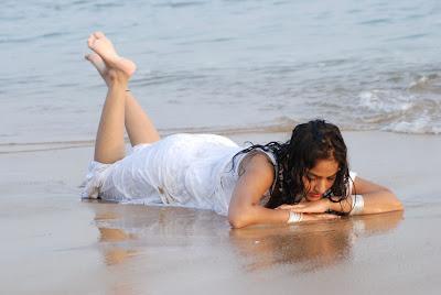 madhavi latha new beach cute stills