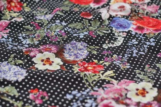 black floral fabric www.loweryourpresserfoot.blogspot.com