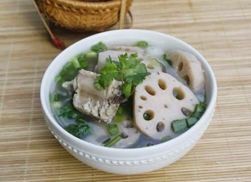 Pork Chop Soup with Lotus Bulb Recipe - Canh Sườn Non Nấu Củ Sen
