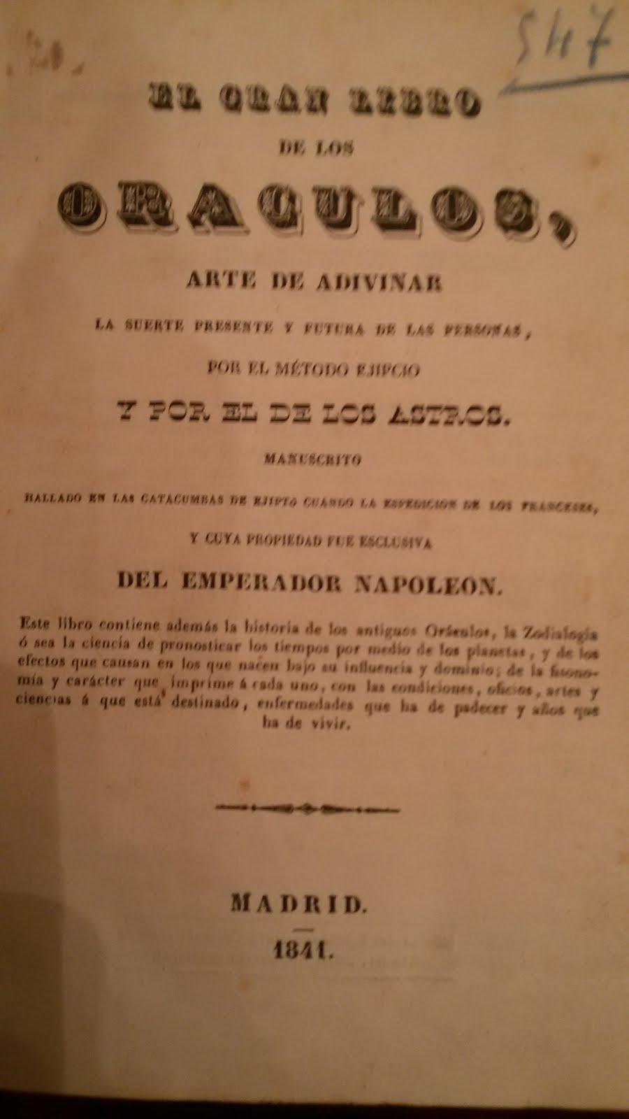 ORÁCULOS 1841