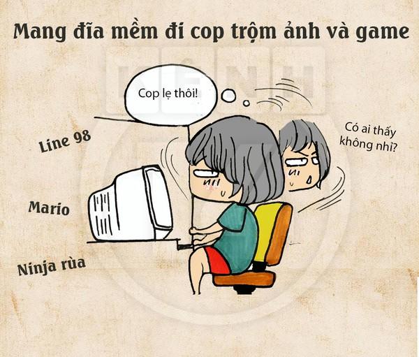 Truyện tranh hài thời chat chit tiệm net 9