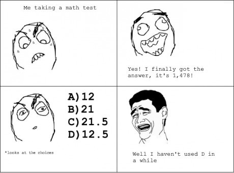 Taking a math test