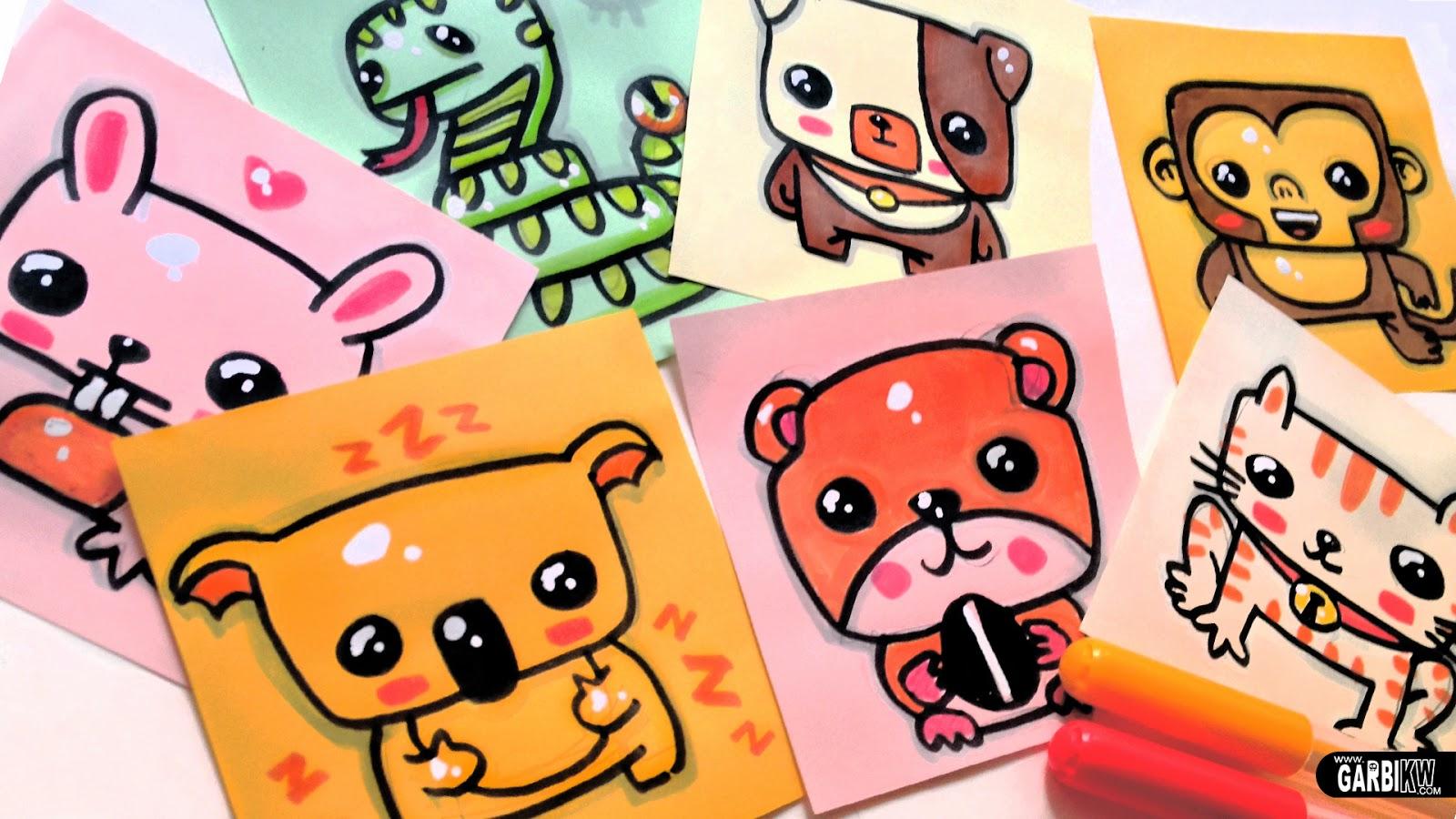 Cmo dibujar animales lindos  perro koala conejo gato mono