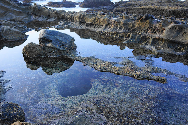 Laguna Beach, California tide pool with deep hole