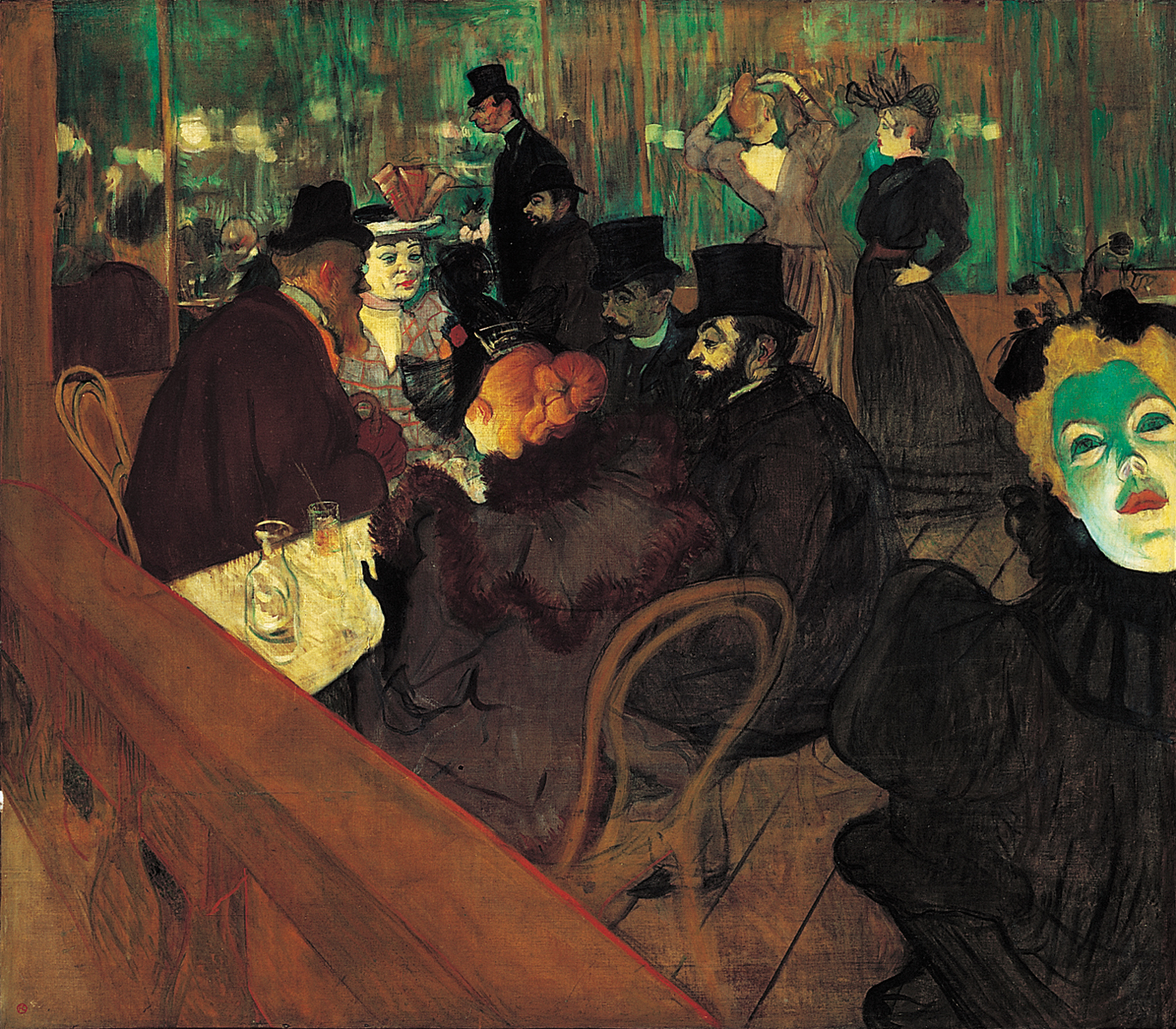 Henri de toulouse lautrec at the moulin rouge 1892 art institute of chicago the world for Art de la table toulouse