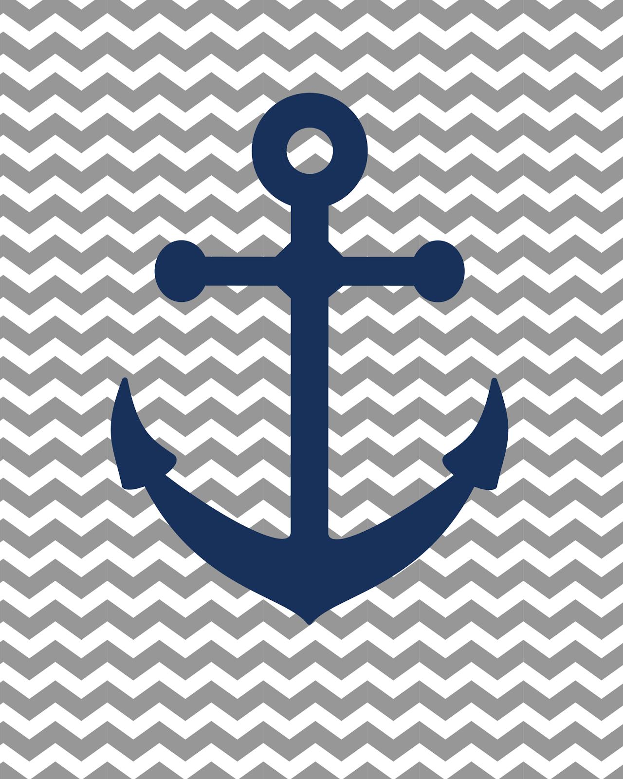 Go Back > Image... Light Blue Anchor Wallpaper
