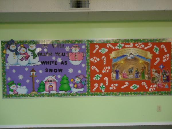 Church Christmas Bulletin Board Ideas