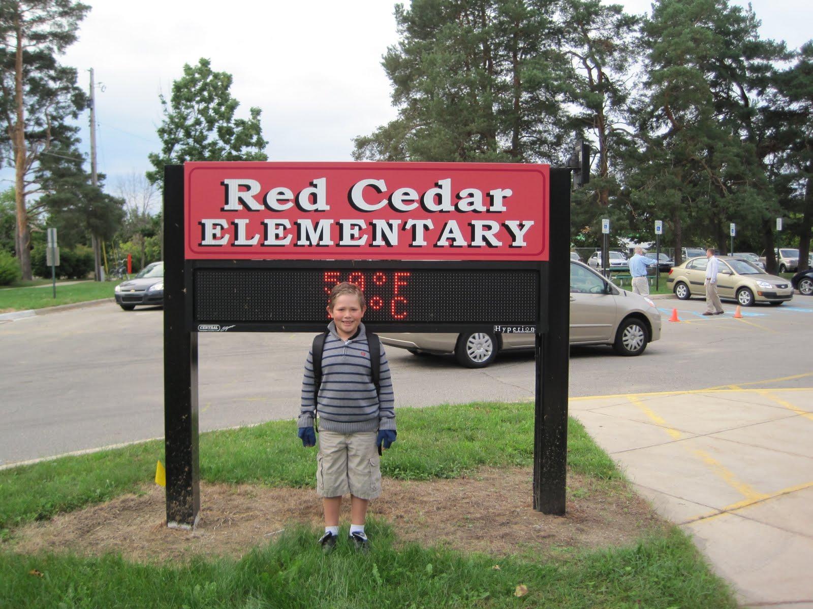Red Cedar School ~ First day of school second grade red cedar elementary