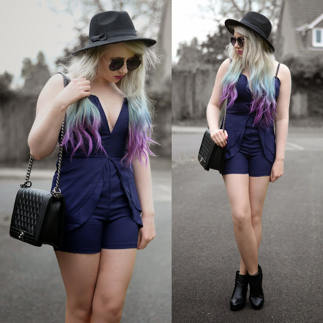 Sammi Jackson - Blue Playsuit