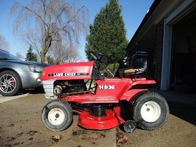 riding lawn mower clean, polish, wash