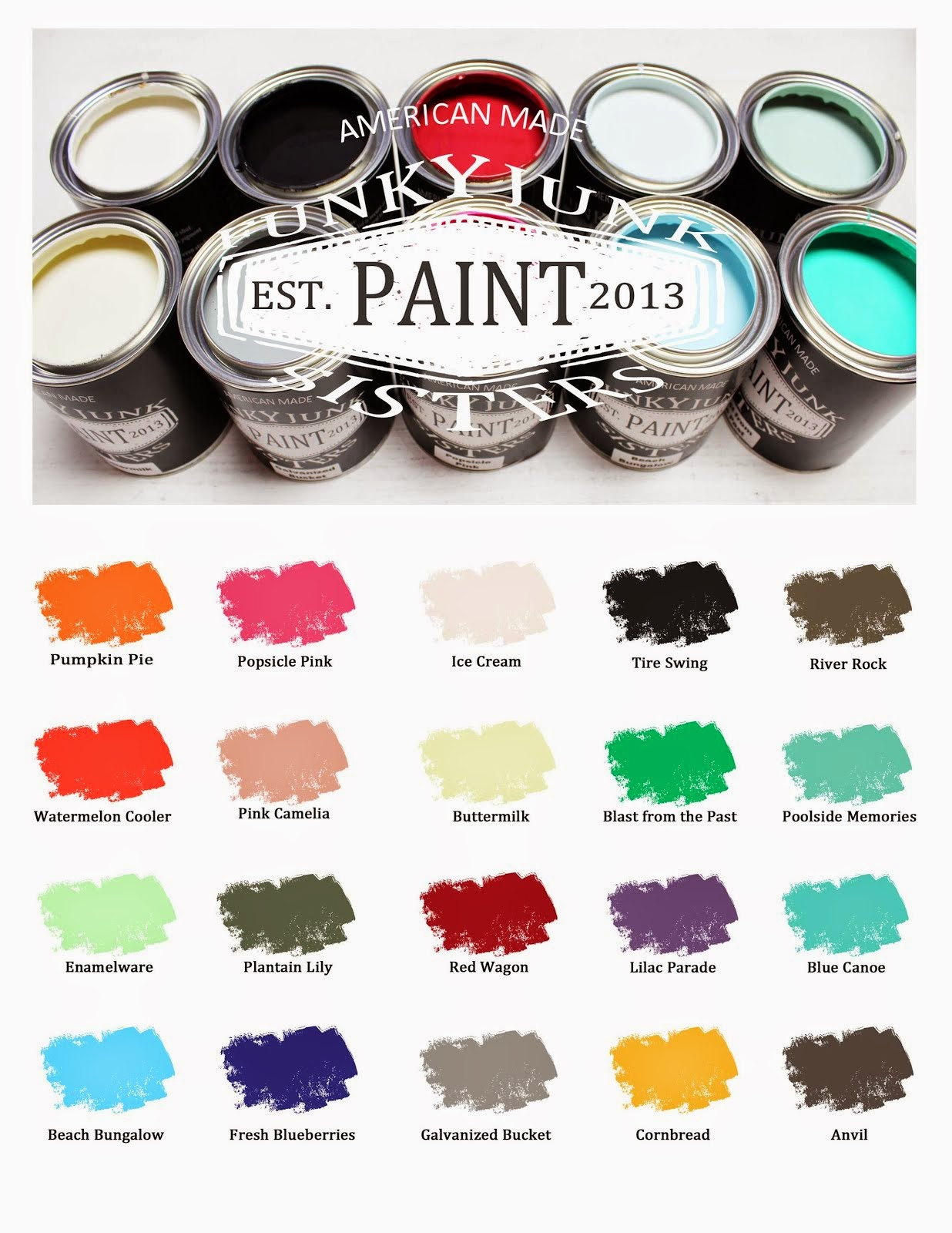 Unleash your creativity with our Funky Junk Sisters Paint!