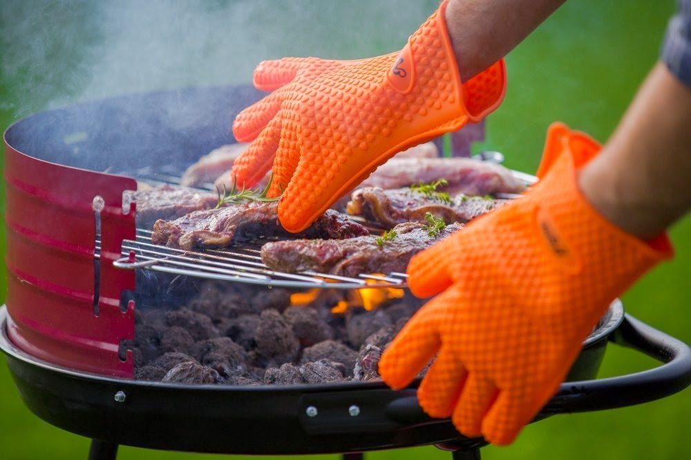 Kitchen Mastery Silicone Grill Gloves