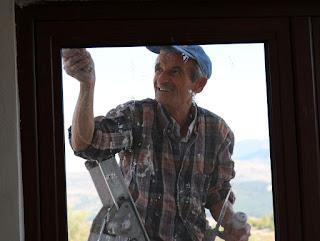 Finishing touches around the balcony door