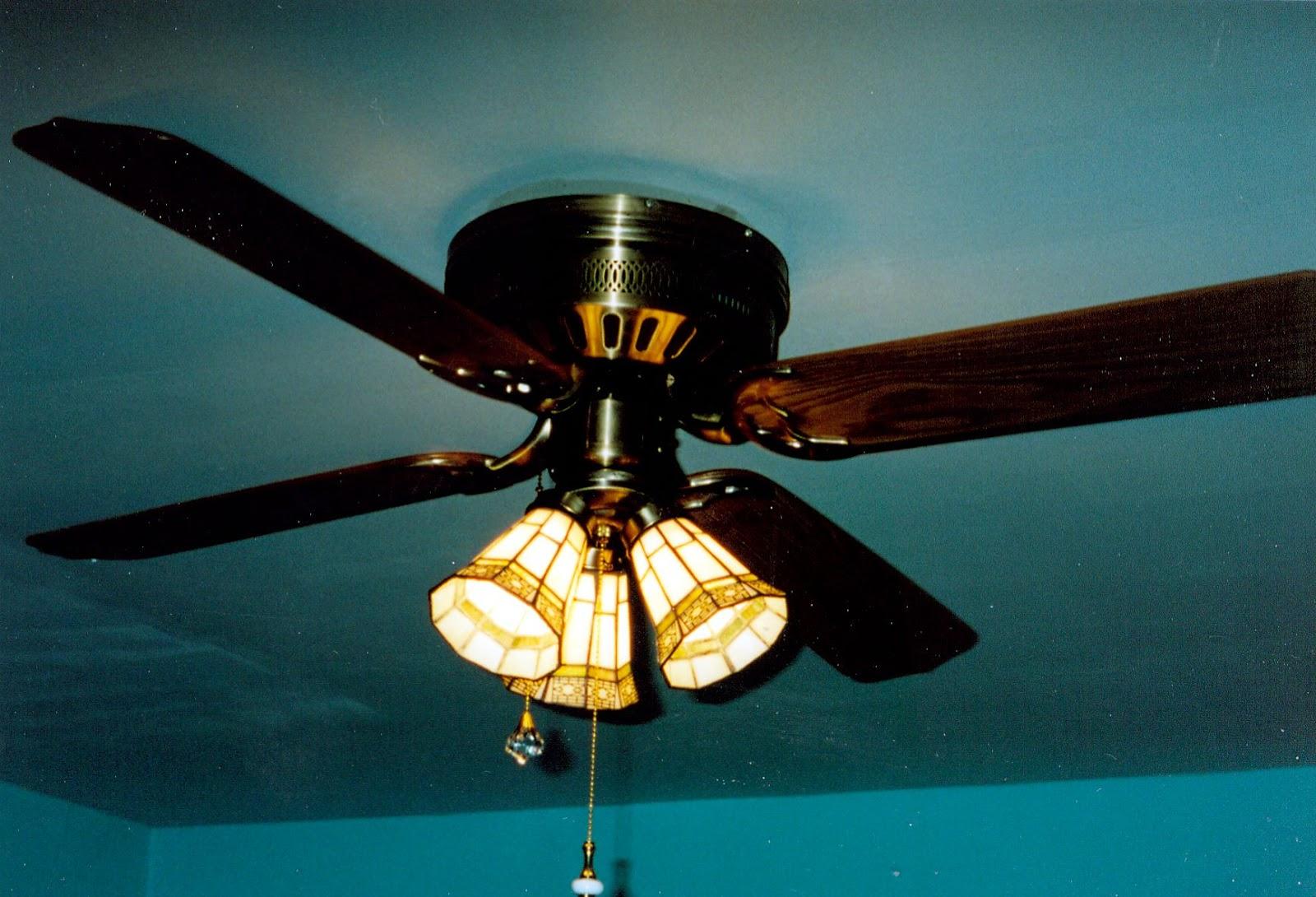 Broken Ceiling Fan : Pine lake the july