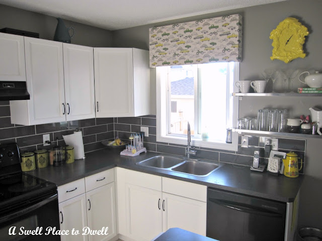 Kitchen window treatments what say you eta lip gbcn - Modern valances for kitchen ...