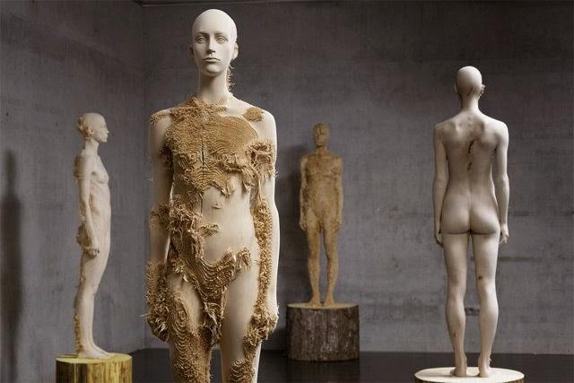 Cute Wood sculptures by Aaron Demetz