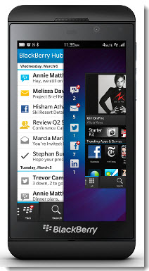 Screenshot of blackberry z10