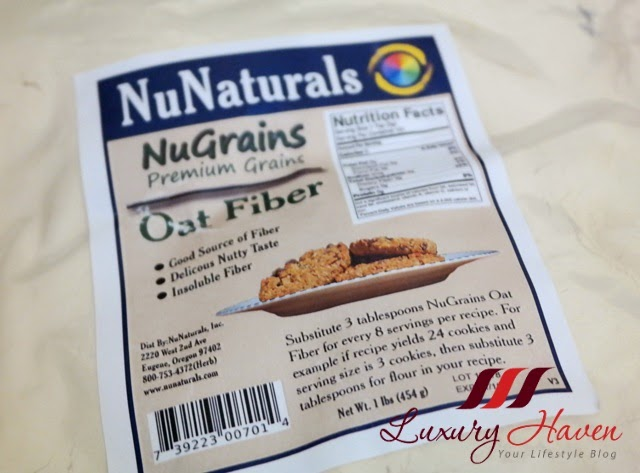 nunaturals nugrains oat fiber review
