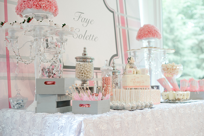 cocoa fig greet the baby shower dessert table