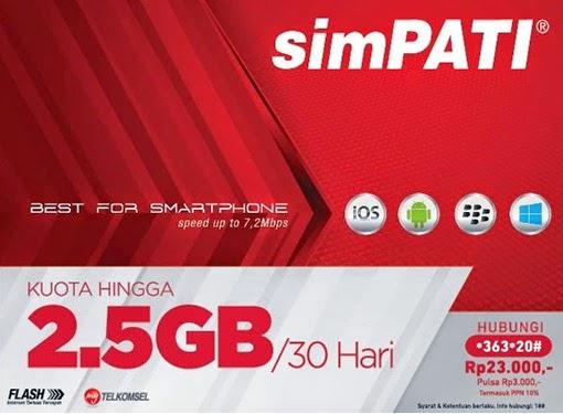 Paket Internet Simpati 60 ribu Jagoan 3G