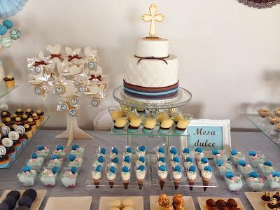 Tartas artisticas mesa dulce y salada para la primera for Mesas dulces para comunion