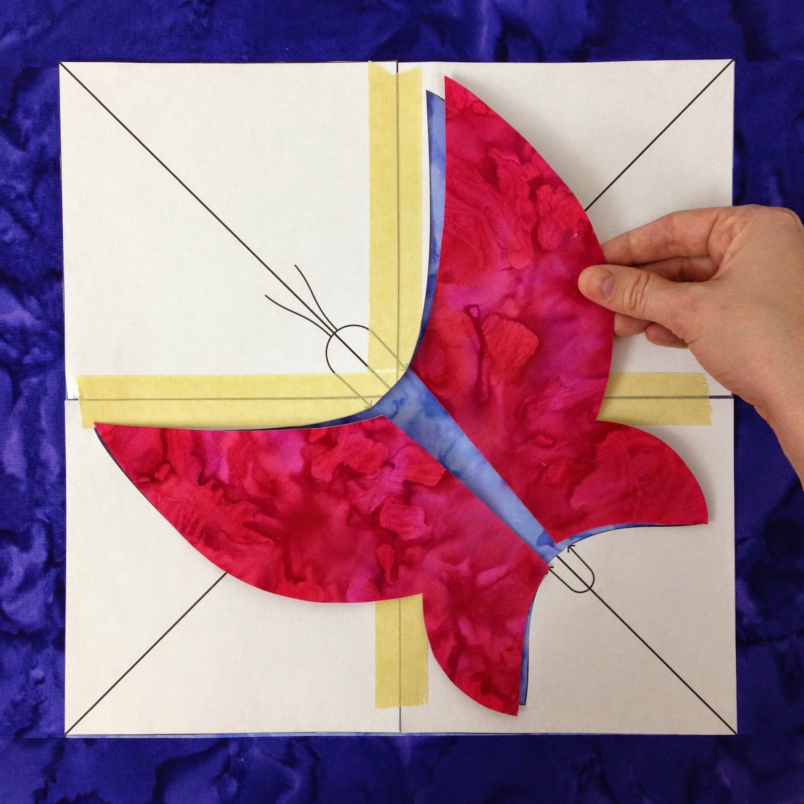 butterfly quilt | fusible applique butterfly