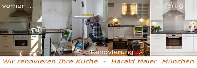 vorher - nachher Küche renovieren