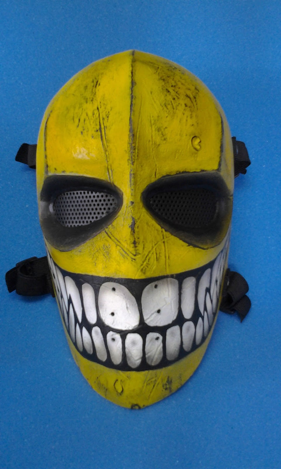 Fiber and Resin: Yellow Smiling Mask