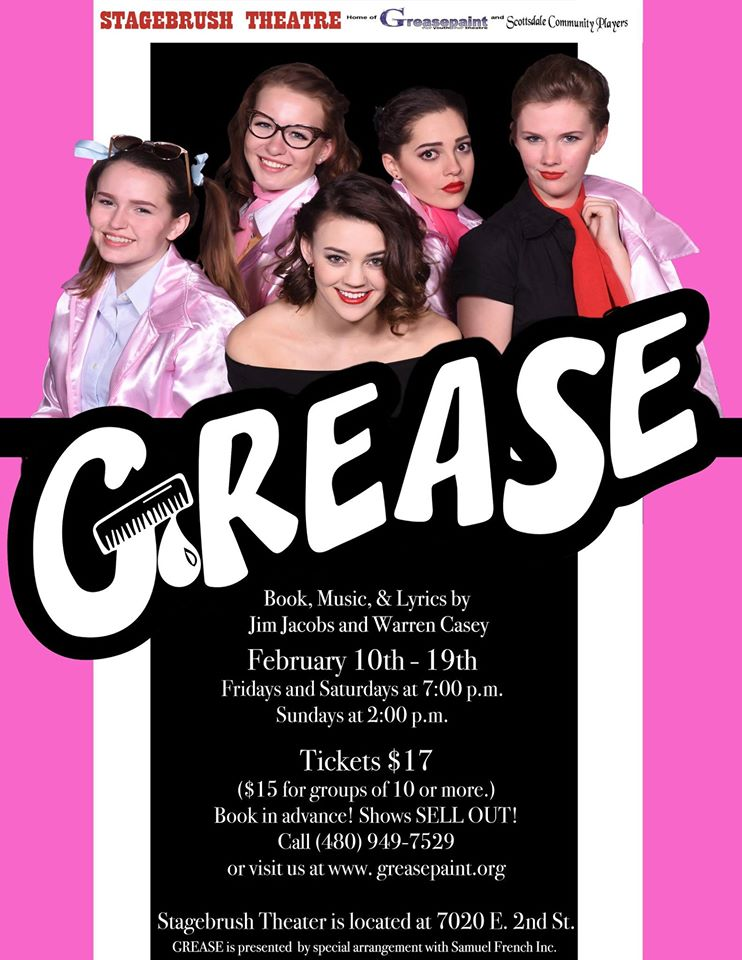 THIS MONTH'S MAIN SITE SPONSOR: Greasepaint Youtheatre presents: