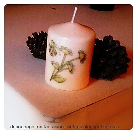 Decoupage transfer y otras t cnicas restauraci n de - Decoupage con servilletas en muebles ...
