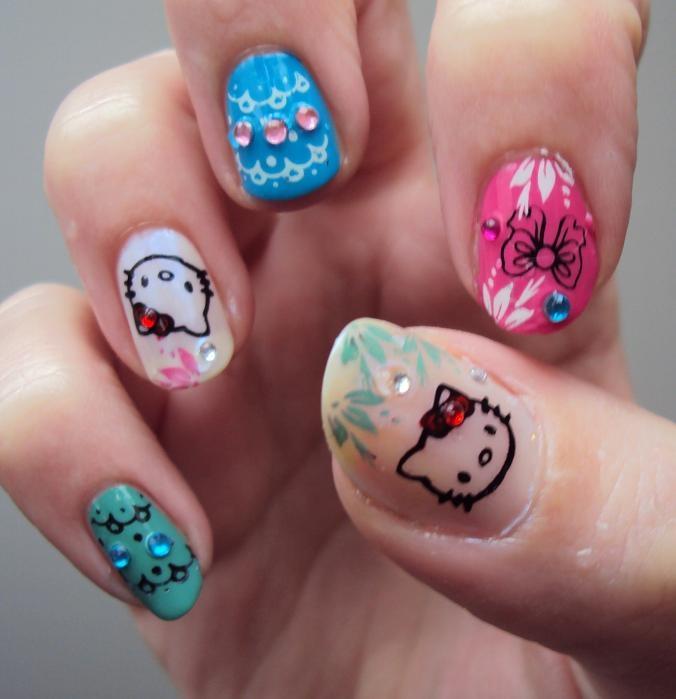 Cara Membuat Nail Art Hello Kitty The Best Inspiration For Design