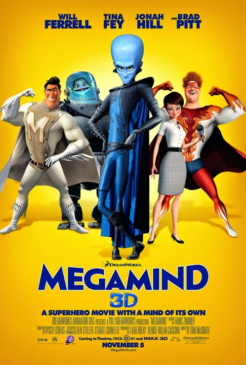 Megamind poster animatedfilmreviews.filminspector.com